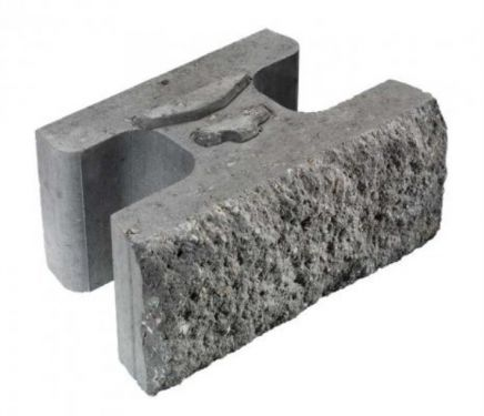 Asak - Vertica ® Mur, støttemur, normal stein, 45x28x20 cm, Koksmix