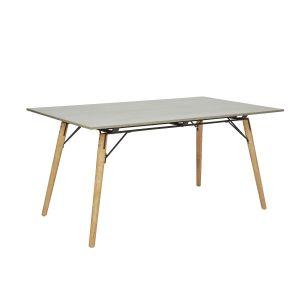 Ribe, Bord, Spisebord, Grå, 160 cm, skandinavisk design