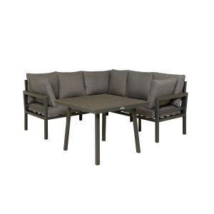 Trento, Sofagruppe m/bord, Mørk grå