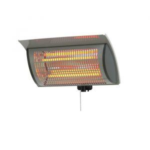 Terrassevarmer / heater, 2000 watt, grå, aluminium