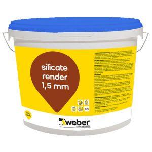 Weber silicate render 1,5 mm, hvit 20 kg