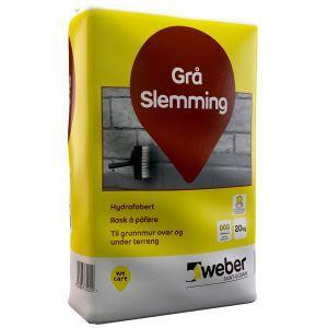 Weber Grå Slemming, 20 kg sekk