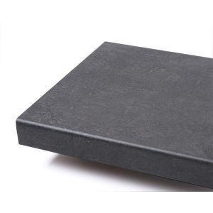 Benkeplate, Fibo lam c 228 Q Mørk Betong - Enkeltemballert, 29 x 3020 x 610 mm