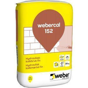 Webercal 152 Hydraulisk kalkmørtel Fin 25 kg