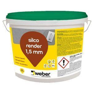 Weber silco render 1,5 mm, Weber standardfarger 20 kg