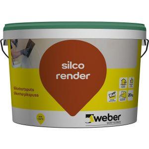 Weber silco render 1,5 mm, hvit 15 kg