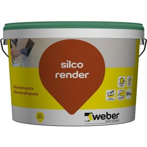 Weber silco render 1,5 mm, Weber standardfarger 15 kg