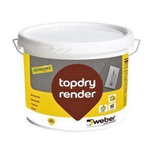 Weber topdry render 1,5 mm, hvit  20 kg