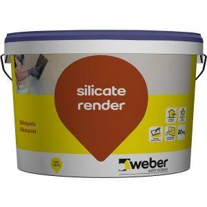 Fargeprøve sluttpuss, Weber silicate render 1,5 mm, 1 kg