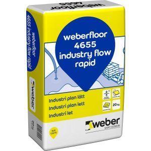 Selvutjevnende avrettingsmasse. Weberfloor 4655 Industry Flow Rapid, 20kg