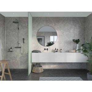 Baderomspanel, Fibo 2279-M00 S Silver Grey Marble, 11x620x2400