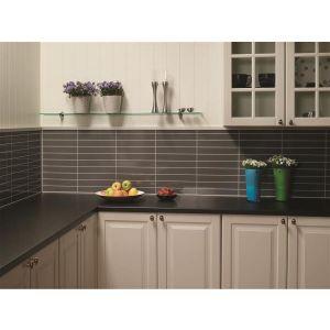 Kjøkkenplate, Fibo 4054-K03 HG Milano Antrasite, 11 x 620 x 580 mm