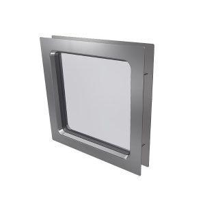 Harmonie - Firkantet vindu m/rustfri stål ramme, 310x310