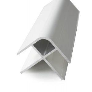 Utvendig hjørnelist PVC 110 hvit, 2400 mm