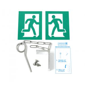 Toppdeksel og utløser (for bl.a. Utstigningstrinn 25 x 30 cm)
