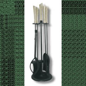 Peissett Linda sort/stål, 4 verktøy, rund fot