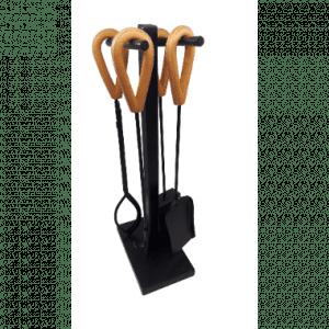 Peissett LEA sort med lys brunt skinn, 4 verktøy