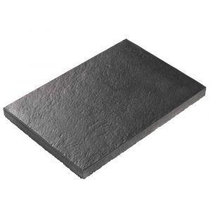 Helle, Lava AC, 60 x 40 x 4 cm, sort antrasitt, fra Asak