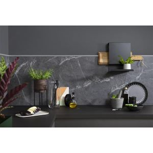 Kjøkkenplate, Fibo 2272-KM00 S Black Marble, 11 x 620 x 580 mm