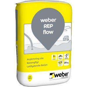 Weber Gulvavretting, rep flow betongflyt, 20 kg, Ute
