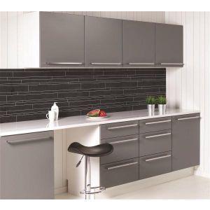 Kjøkkenplate, Fibo 1066-KM99 C Black, 11 x 620 x 580 mm*