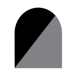 Underlagsplater 1,5 mm type D emaljert sort/grå