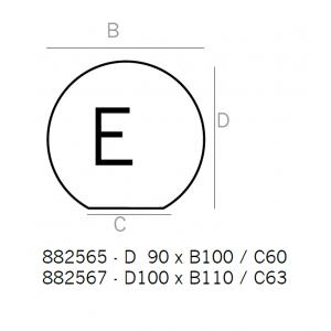 Underlagsplater 1,5 mm emaljert sort/grå, type E