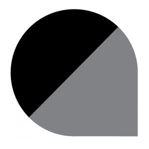 Underlagsplater dråpeformet emaljert sort/grå type G
