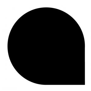 Underlagsplater dråpeformet lakkert sort, type G
