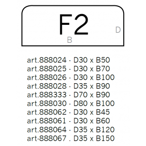 Underlagsplater I glass, type F2