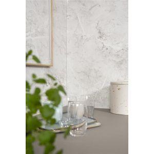 Kjøkkenplate, Fibo 2273-KM00 S White Marble, 11 x 620 x 580 mm