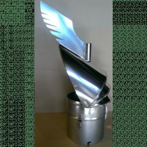 PIPEHATT DRAGON ø200 mm, svingbar, blank u/beslag