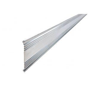 Alubord, Aluminiumslist, kantavslutning, hagekant, 120 cm x 10 cm, 3 stk, fra Aaltvedt