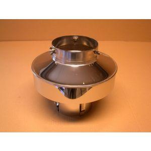 Toppbeslag Ø150 mm. (146-152mm) til stålpipe