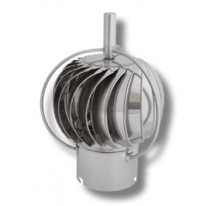 Turbowent - roterende pipehatt utvendig kulelager.