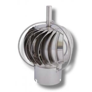 Turbowent roterende pipehatt med utvendig kulelager