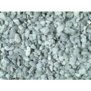Hagesingel hvit, Arctic White, knust 8–12 mm. 20 kg sekk, fra Aaltvedt