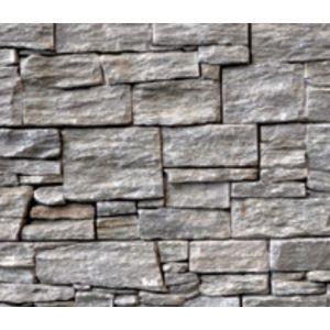 Steinpanel, Dovre, str. 55 x 20 cm, 5 cm tykkelse, rett utgave, Stonepanel