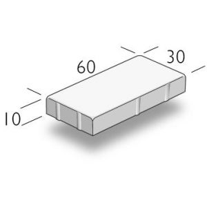 ASAK Gangbaneheller børstet, 30x60x10, Grå