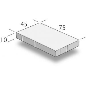 ASAK Gangbaneheller børstet, 45x75x10, Grå