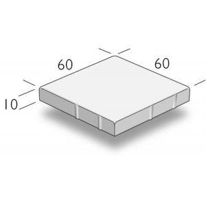 ASAK Gangbaneheller børstet, 60x60x10 cm, Grå