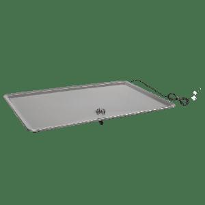 Dryppanne for utedel, 932 x 610mm, dobbel bunn m/ innebygget varmematte