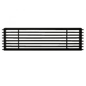 Ventilrist Rail, bredde 350 x høyde 100 mm, svart, 250 cm² åpning