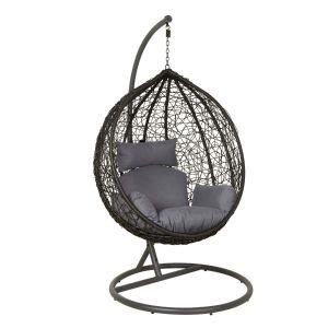 Lazy Hengestol / hammock, svart korg