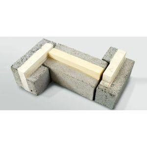 Leca® Ringmursblokk, utvendig hjørne, 25 cm