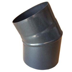 Knerør ø125 mm x 30°, uten luke, Todelt, Sort, fra Helmin
