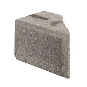 Kombimur støttemursystem, 1/2 stein, Grå, fra Aaltvedt