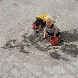 Kongsgård belegningsstein, sirkel ø 2,1 meter, Gråmix, fra Aaltvedt