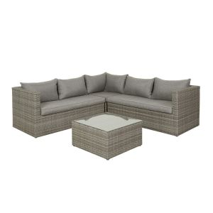Korfu sofagruppe, lys grå