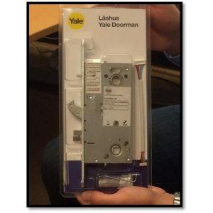 Låsekasse m/kabel, reparasjon / utskiftningssett for Yale Doorman dørlåse